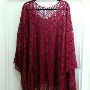 Tops - Burgundy lace top